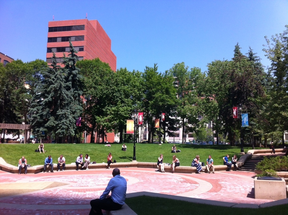 The McDougall Centre backyard.