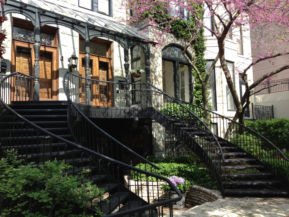 The iron stairs in Chicago's Gold Coast neighbourhood - the best streetscape in the world!