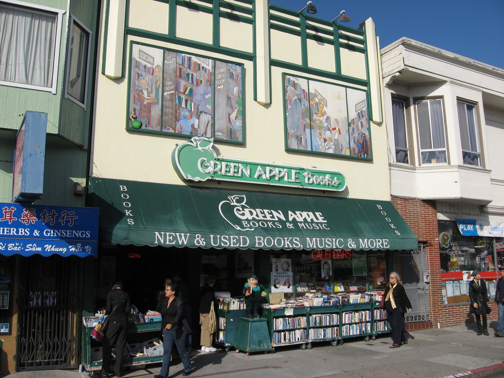 Green Apple Books was a great find when we were in San Francisco.  The entire Clement Street district was discovered when we wandered away from the Haight Asbury area.
