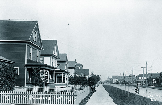7th Avenue looking east. Hard to believe downtown was once just a charming little prairie town.