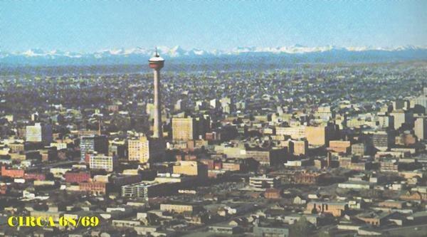 Calgary pre-highrises - 45 years ago.