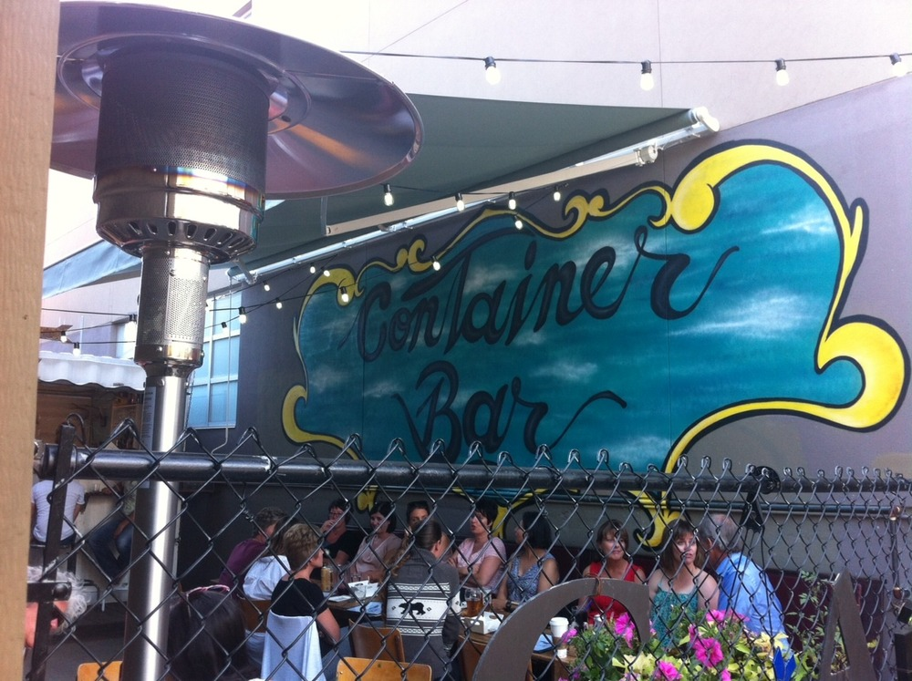 Kensington's Container Bar located in an alley between two buildings has been an instant hit.