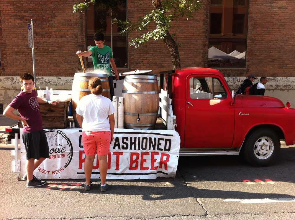 Yes Edmonton has a root beer truck at their farmers' market.