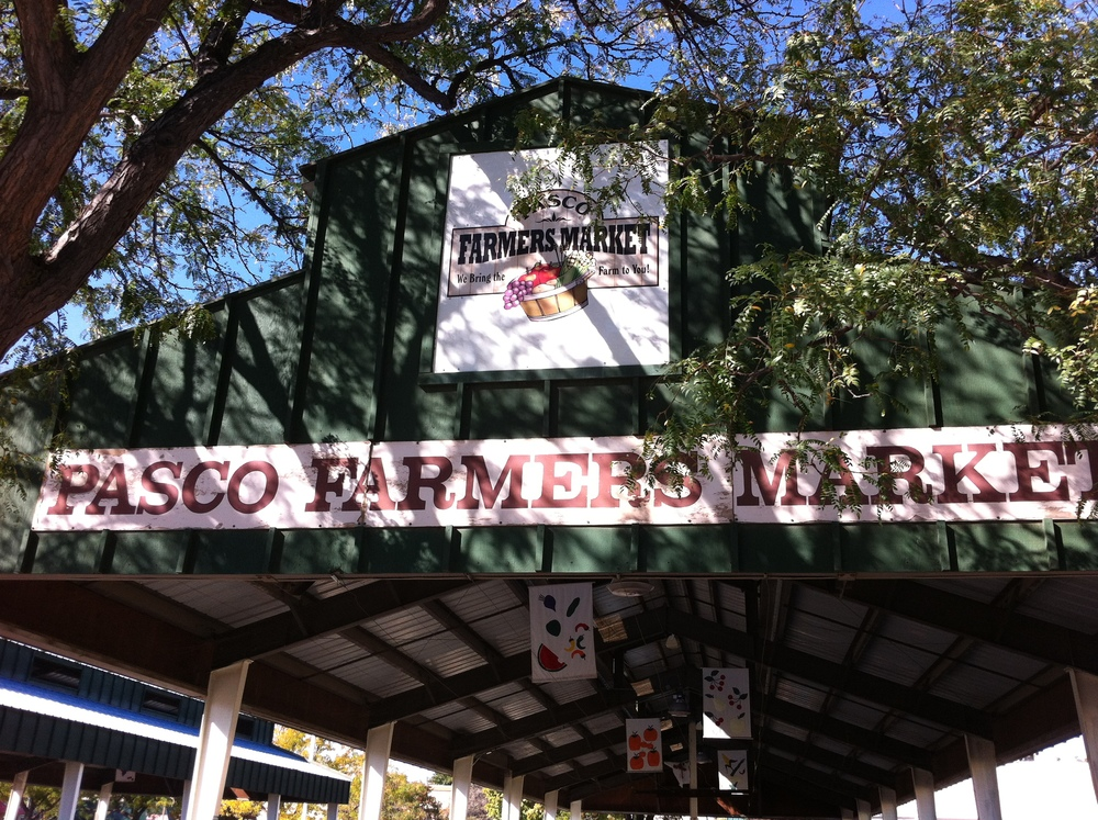 Pasco's Farmers Market consists of two open-air structures.