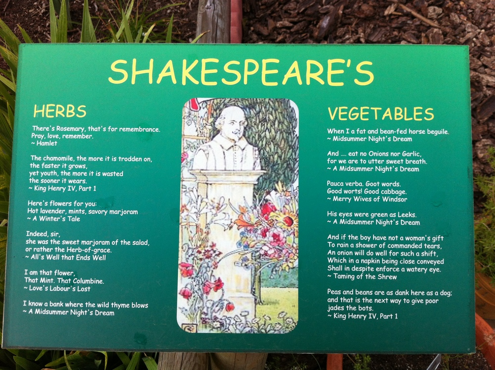 The Shakespeare Garden mixes quotation, flowers and plants to create a unique experience.