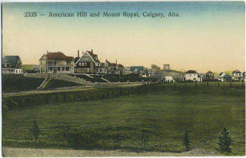 Mount Royal becomes American Hill and you can see some of the early trees.