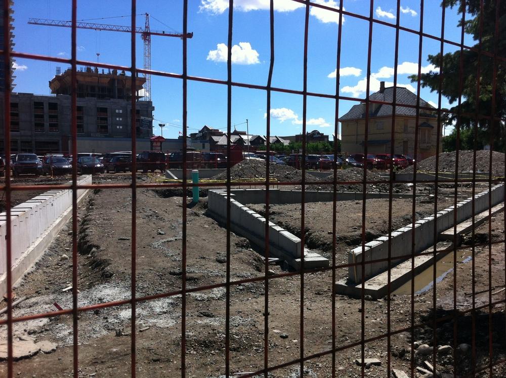Enoch Park under construction.