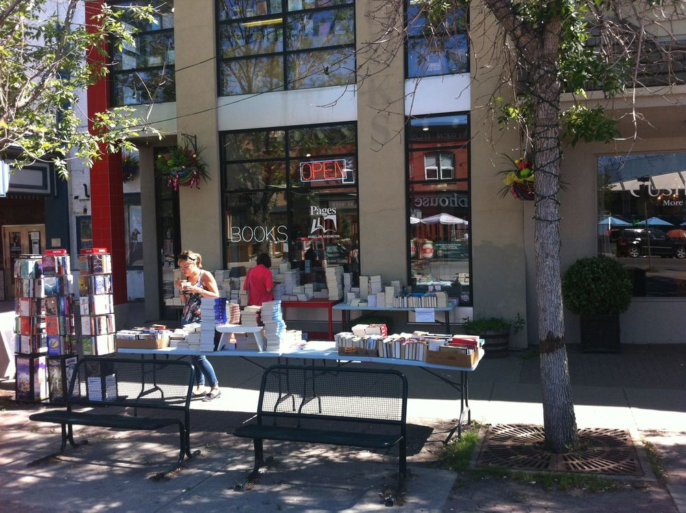 Pages bookstore is one of the few independent bookstores left in Calgary.