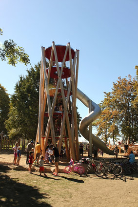 In the 21st century slides and climbing structures take on a whole new dimension.