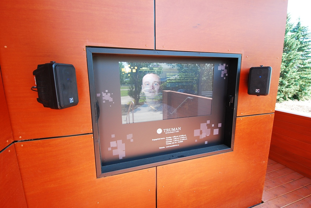 Interactive video screen with all of the key information at a touch.