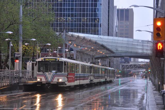 Calgary's transit corridor.