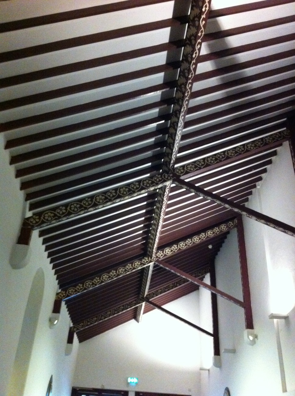 Ceiling of hallway entrance to the church