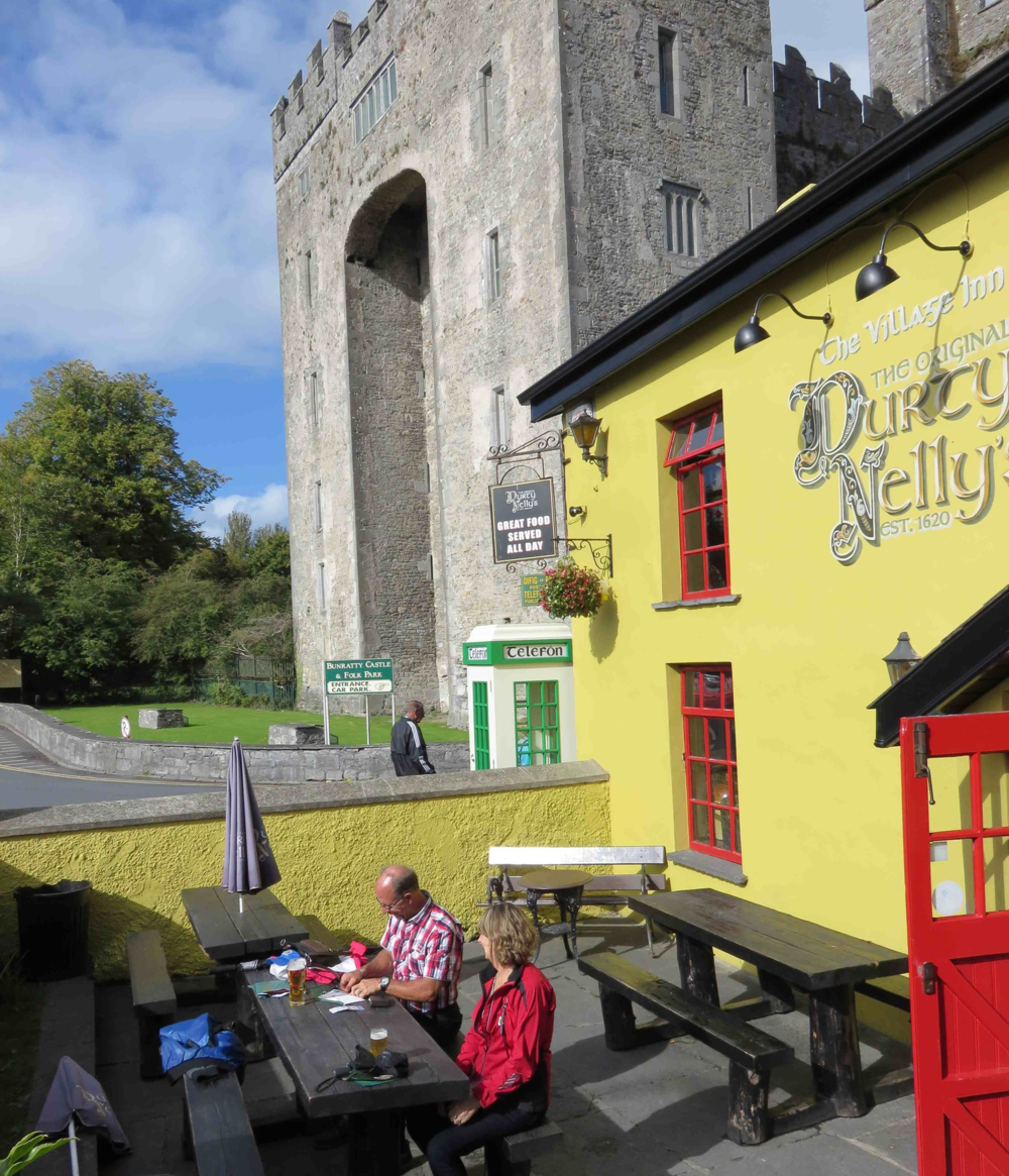 A beer and some postcards at the Bunratty Castle in Ireland.