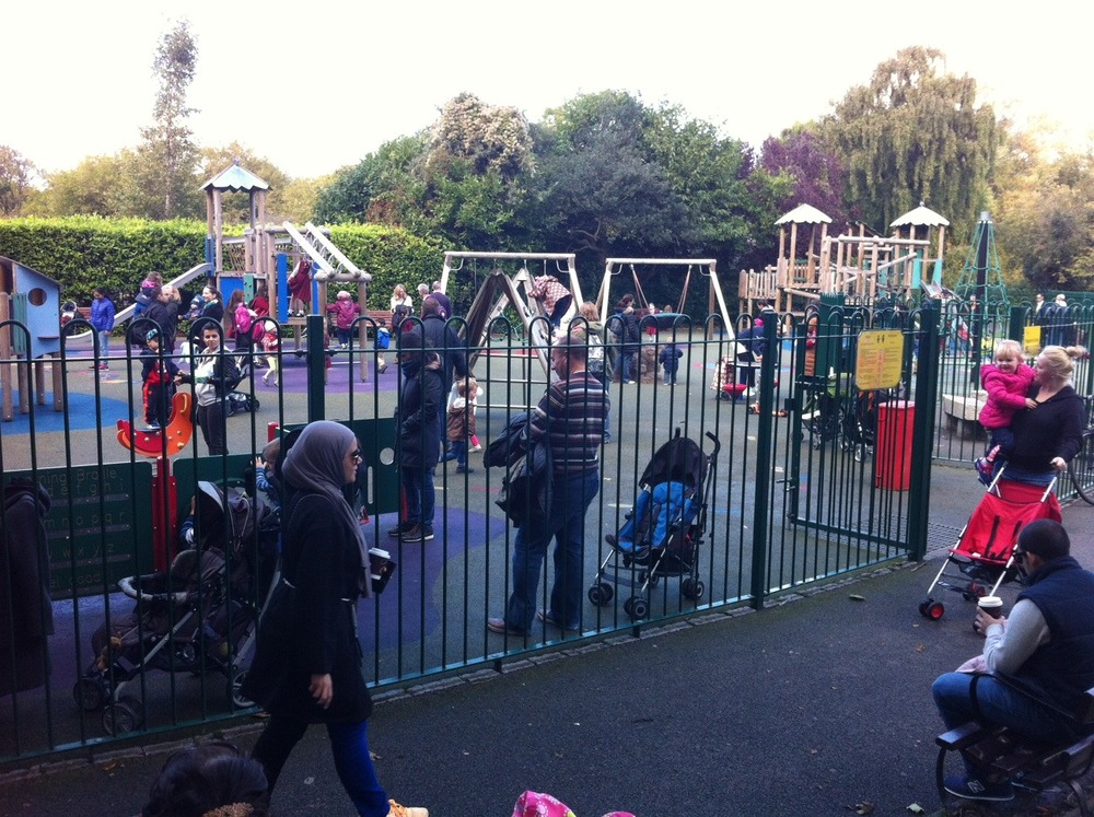 The Park's playground is very popular with the little people..