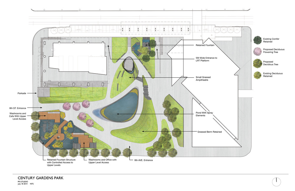 Plans for renovations of Century Gardens Park (image credit: City of Calgary)