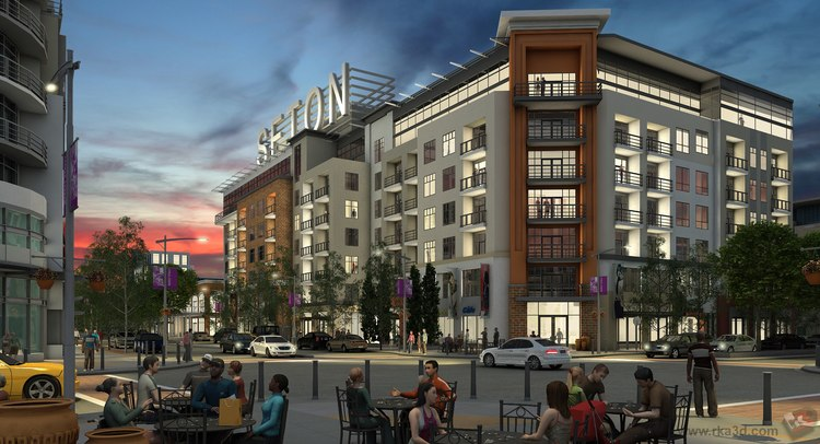 Concept rendering by RK Visuals of the SETON a planned new urban community at the city's southeast edge. (photo credit: Brookfield Residential Properties).
