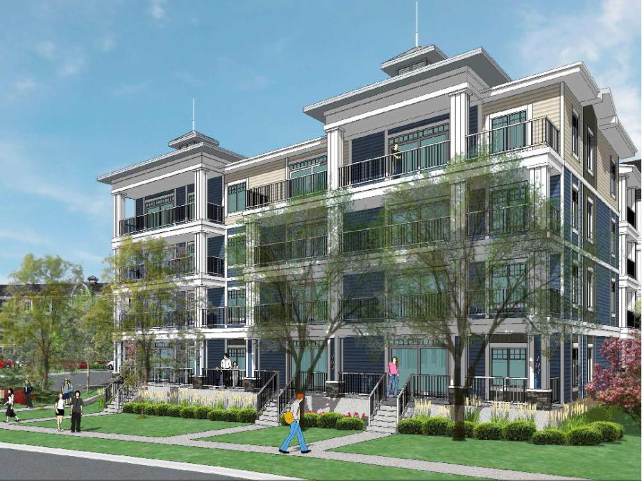 Auburn Walk condo in Calgary's new community of Auburn Bay developed by Brookfield Residential Properties.