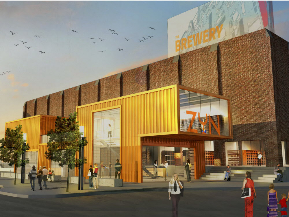 Conceptual rendering of how some Inglewood Brewery buildings could be redeveloped. (image credit: Matco/M2i Development)