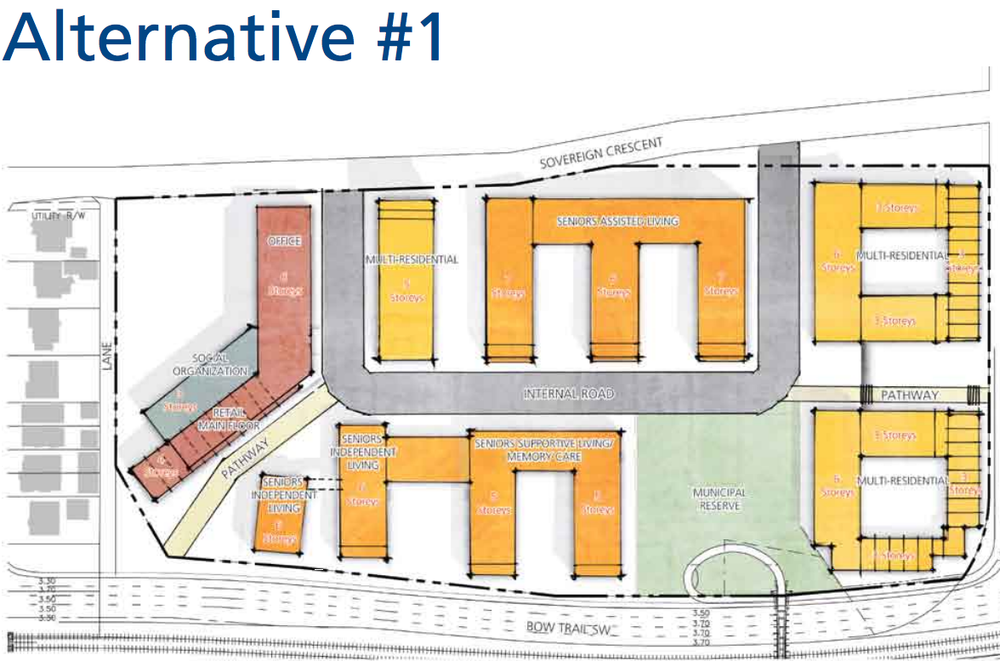 These are three conceptual alternatives on how the site might be developed. They are for discussion purposes only.