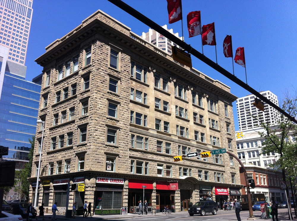 Grain Exchange Building recalls Calgary's beginnings as an agricultural centre.