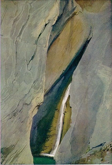 Hamilton Falls, full of wonderful colour, shapes, textures and subtle lines, makes further links to O'Keeffe, abstractionists and colourfield painters.