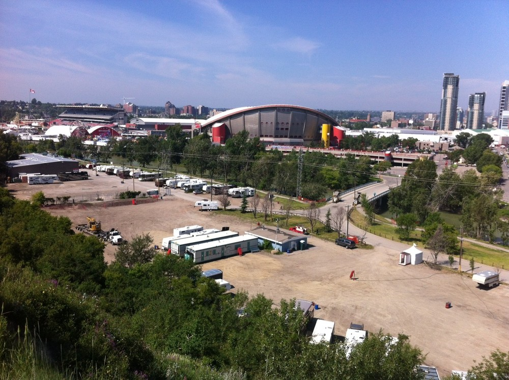 The site of the new ENMAX Park at Stampede.