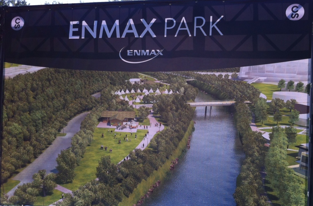 Rendering of what ENMAX Park will look like.