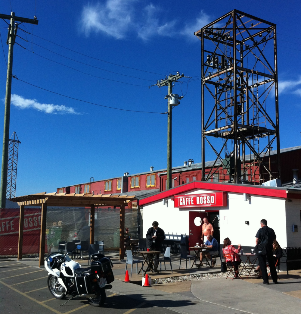 Calgary also has its fair share of quirky cafes like this one in Ramsay's Industrial district.