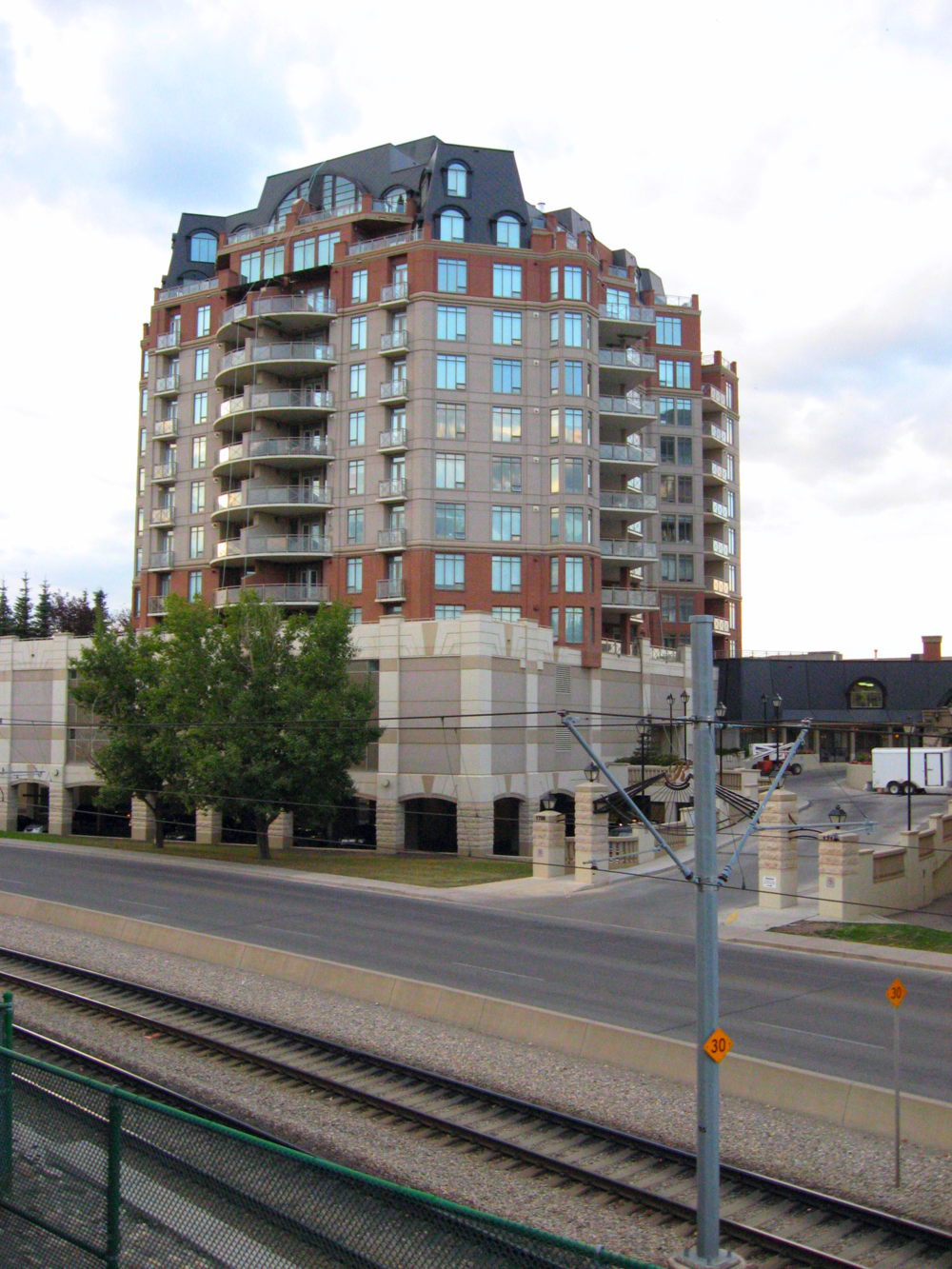 New condo development at the Lions Park LRT Station with direct link to North Hill Shopping Centre, Safeway and public library.