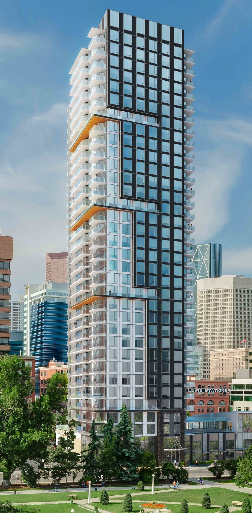 Park Point will become the signature contemporary building in Calgary's Beltline community. (image courtesy of Qualex Landmark)