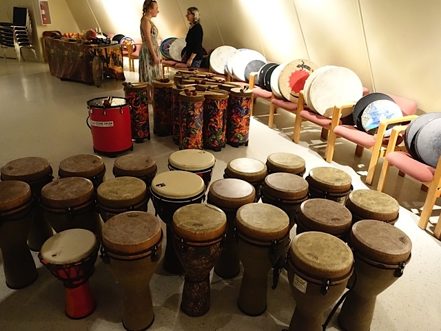 There are lots of drums for everyone.