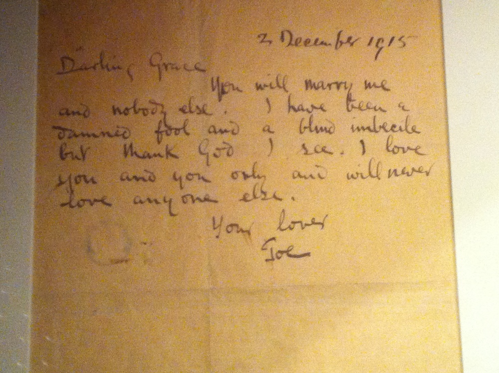 In the museum area there are lots of artifacts, but the most touching were the letters which tell very intimate stories. This one is about Joseph Plunkett who married his wife the night before his execution.