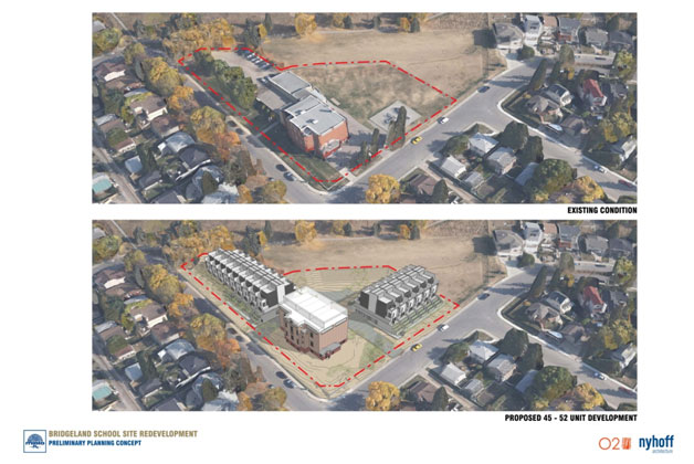 The proposal takes two surface parking lots and turns them into town homes, isn't that a good thing? Adds new tax revenues so the City can reinvest in established communities.