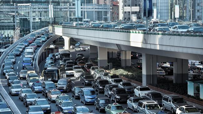 Despite a comprehensive transit system, traffic jams like this are a common occurrence in Sydney.