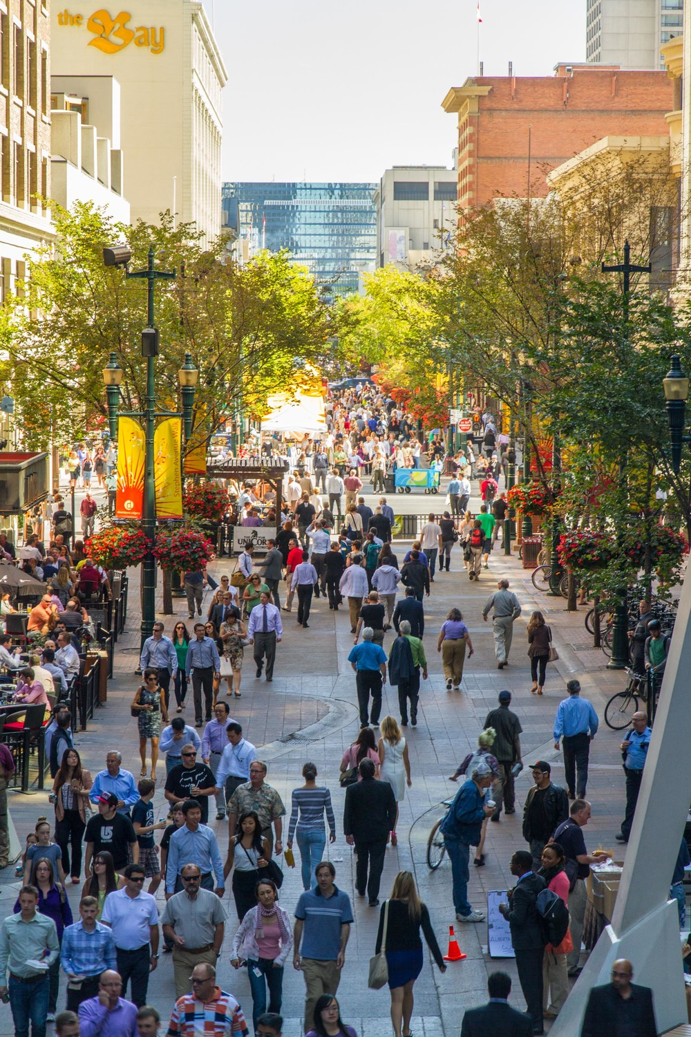 Calgarians love to stroll Stephen Avenue Walk.