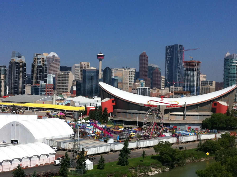 Calgary's Saddledome arena is located in Stampede Park (the greatest outdoor show on earth) on the southeastern edge of the City Centre.