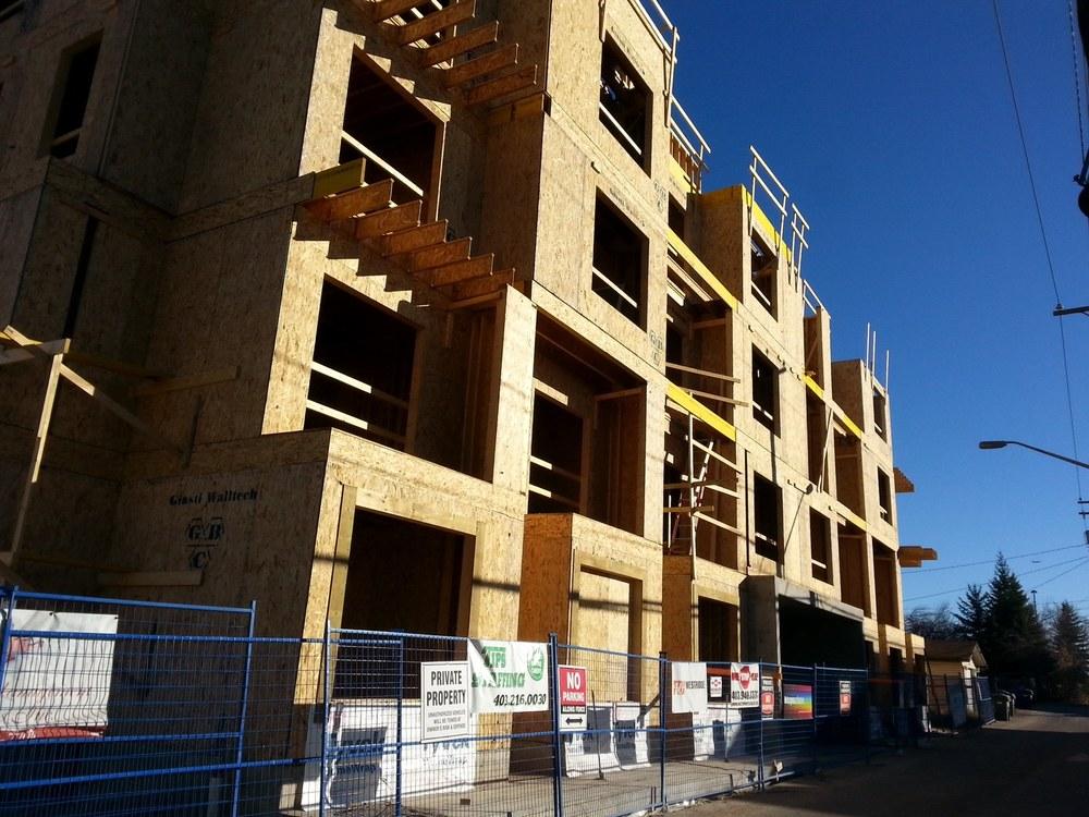 Attainable Homes condo under construction