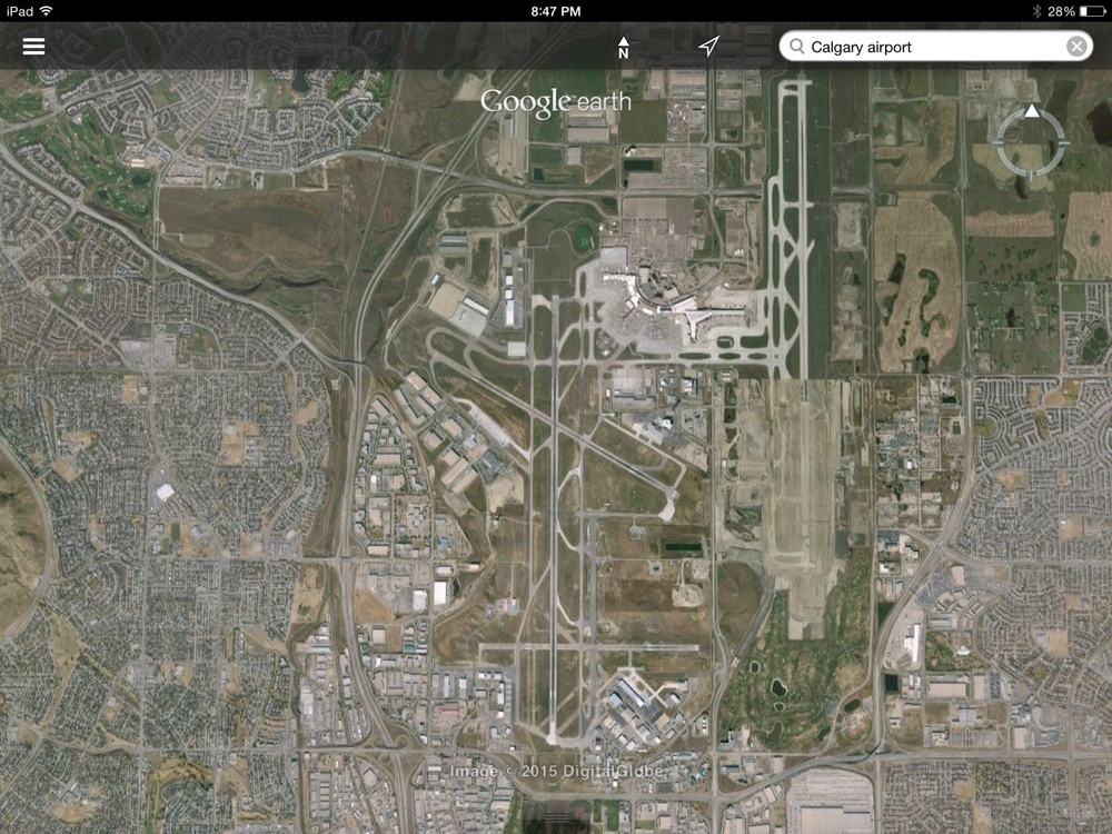 This Google Earth map shows how the Calgary International Airport has become a hub for both warehouse and housing development. Northeast Calgary is a booming airport city, similar to Richmond in British Columbia and Mississauga in Ontario. The northeast now has more hotel rooms than downtown.