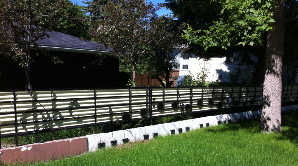 Musical fence in Parkdale.