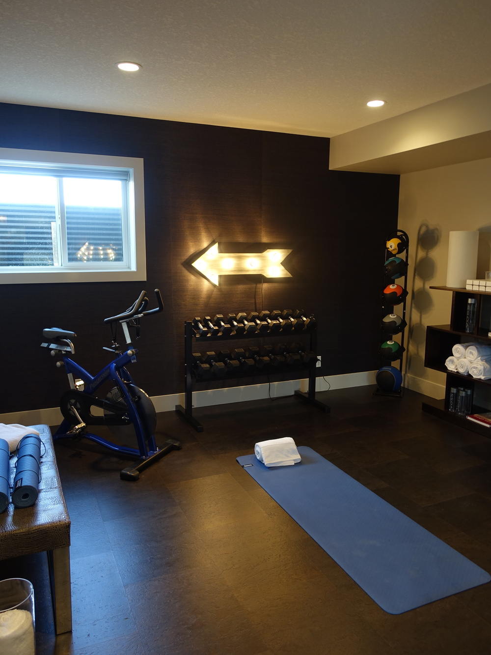 Imagine your own yoga workout studio.