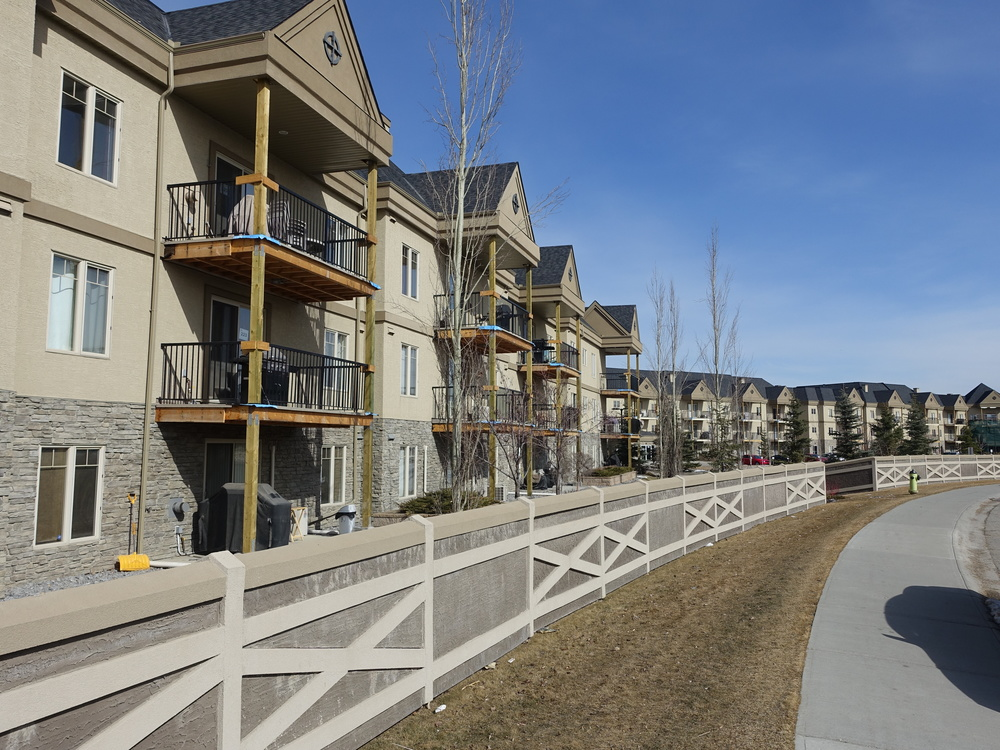 An example of one of the many condo complexes prevalent in new suburban communities.
