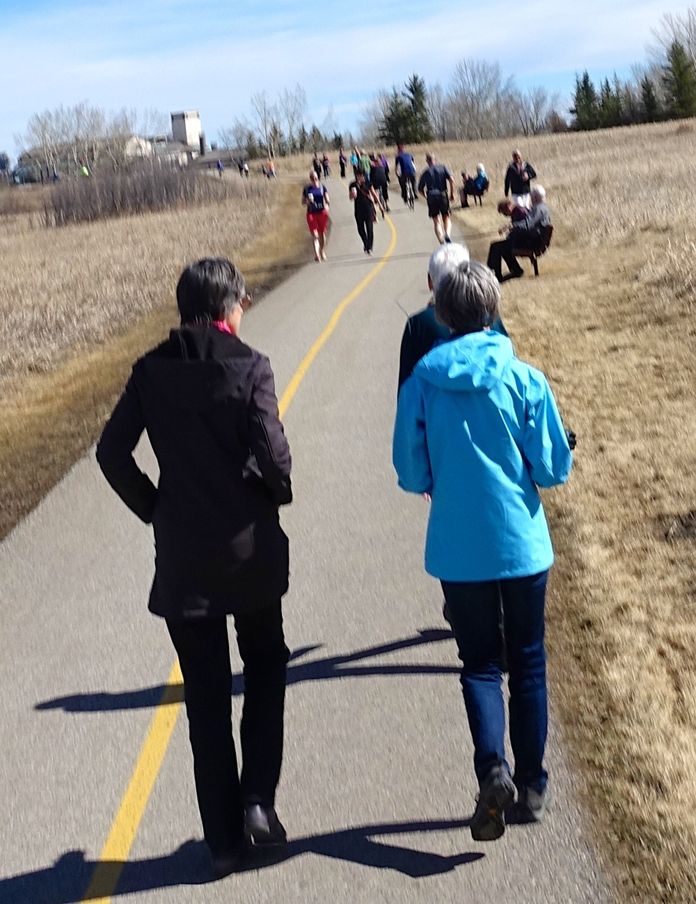 Glenmore Reservoir pathway was a busy place on March 29, 2015.