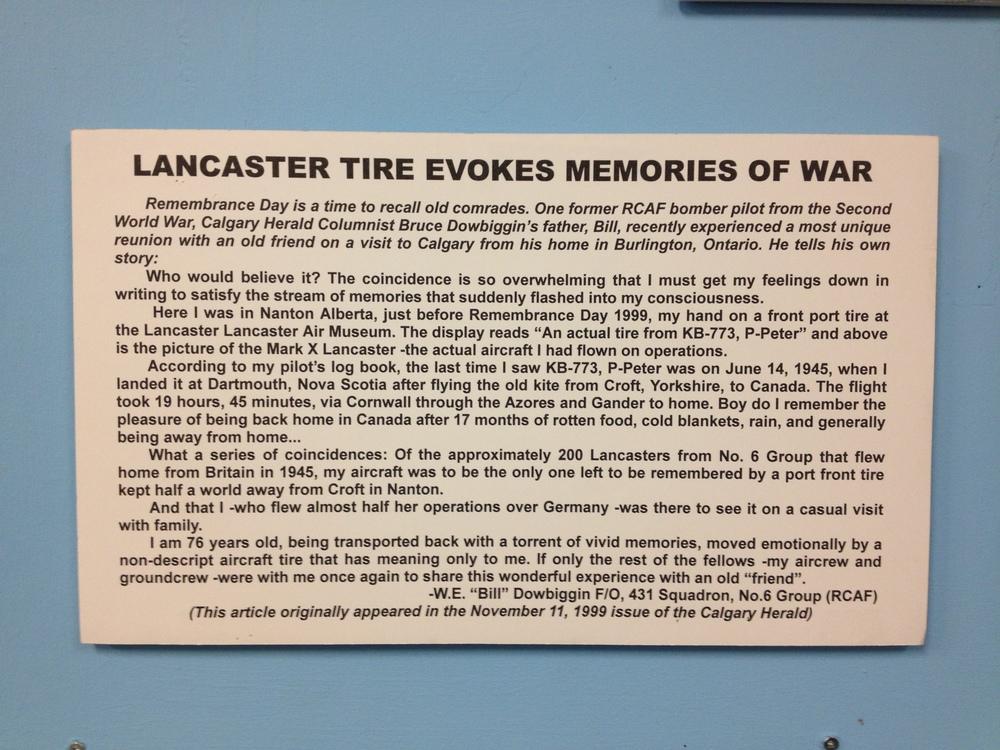 Lancaster Tire evokes memories