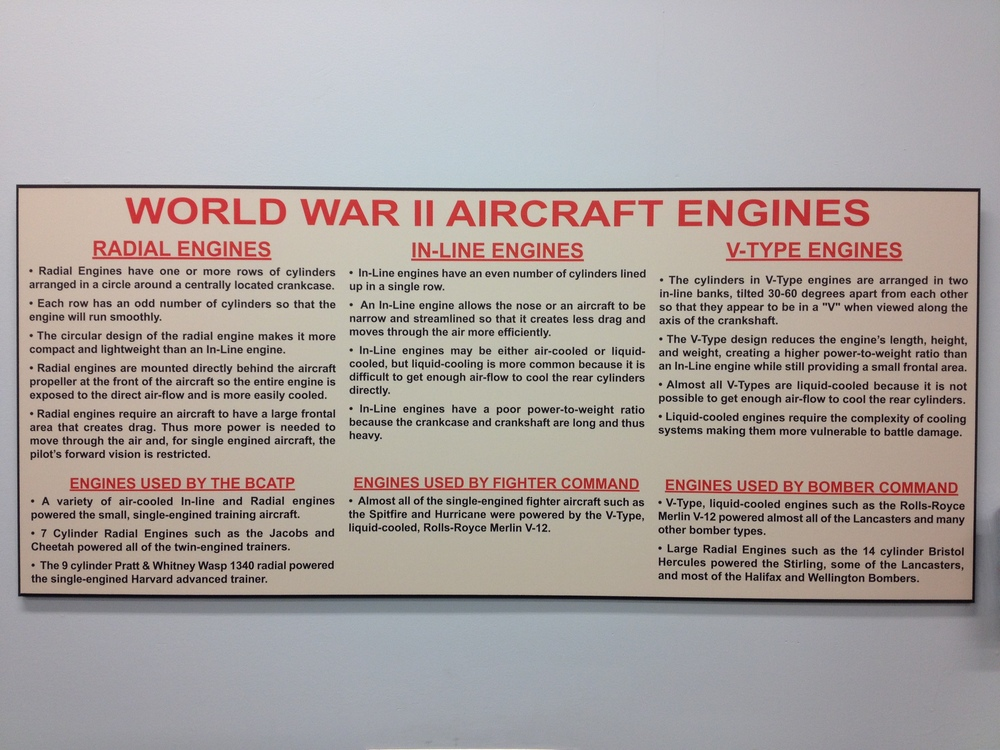 There is an entire room devoted to engines.