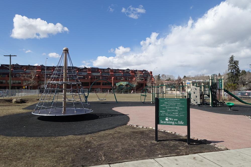 Playground on west side of Hillhurst School.