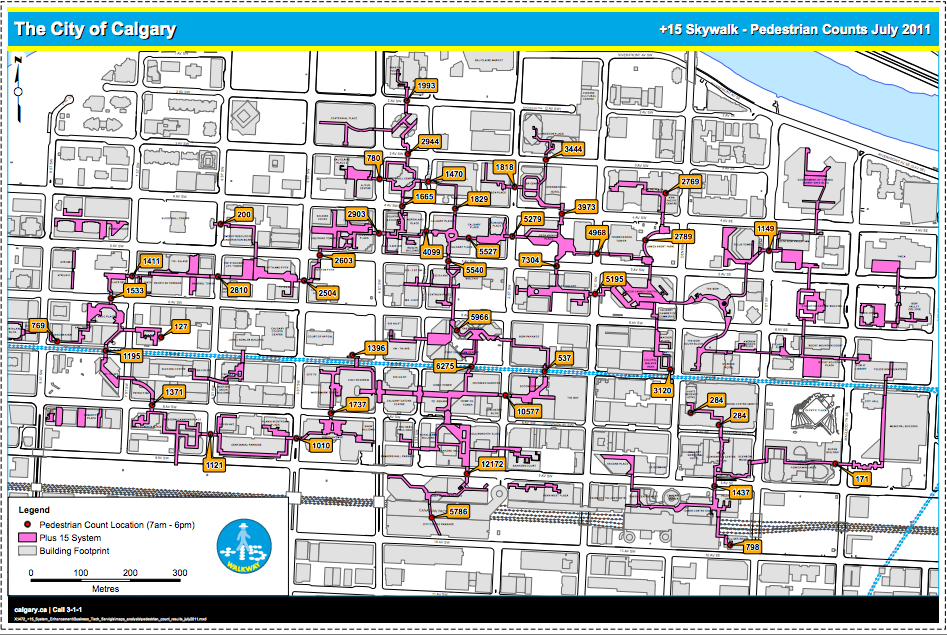 Pedestrian Counts July 2001.The City of Calgary website