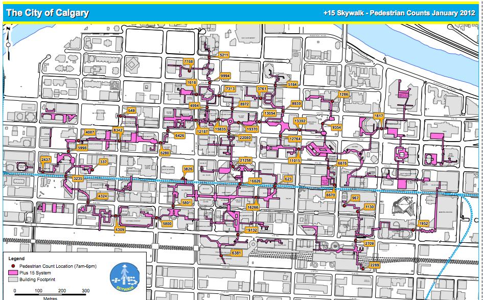Pedestrian Counts January 2012. The City of Calgary website