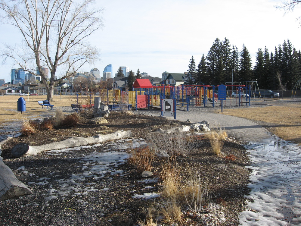 The Queen Elizabeth School complex(elementary, junior high and high school) playground makes Hillhurst and West Hillhurst a haven for families.