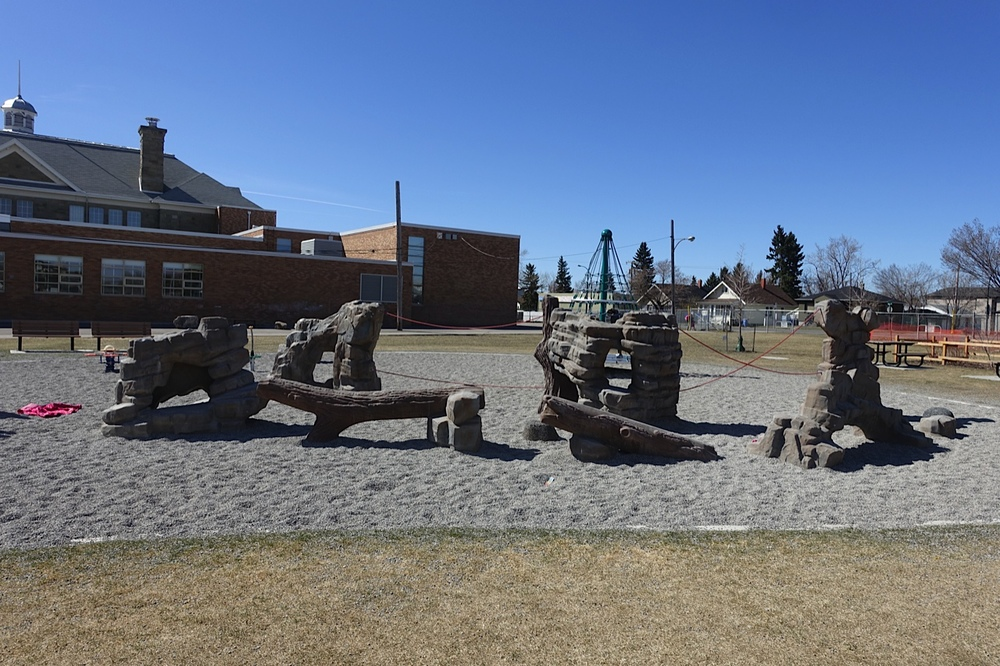 The modern playground at King George School.