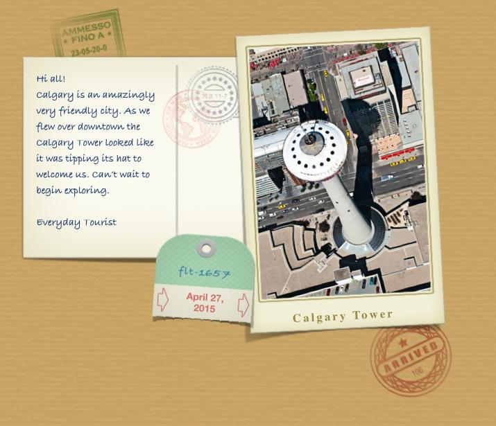Calgary Tower Postcard